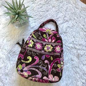 Vera Bradley floral purple punch lunch bag